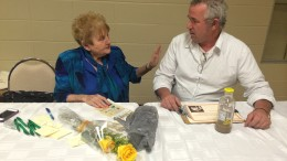 Steve Robert with Holocaust survivor Eva Moses Kor. Photo provided.