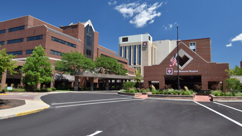 IU Health Ball Memorial Hospital. File Photo.