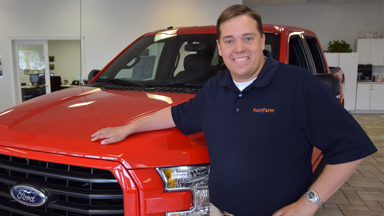 Jim Kissling Co-President of AutoFarm Group, LLC is pictured in the Middletown showroom. Photo by: Mike Rhodes
