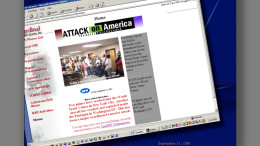 Intranet project's homepage on Sept. 11th, 2001