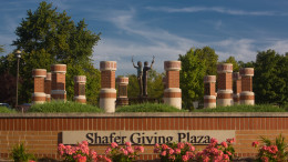 Shafer Giving Plaza. Photo provided.