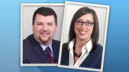Pictured left to right: Bill Schuhmacher and Jaime Faulkner, newly announced VP's at MutualBank