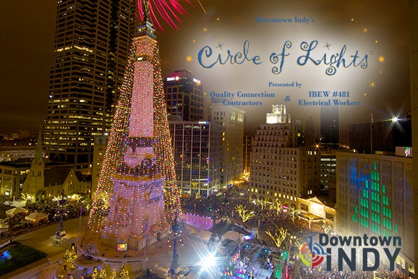 Circle Of Lights. Photo courtesy of: downtownindy.org