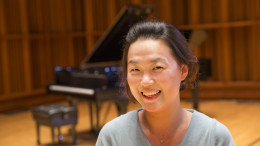 Among the 29 pianists competing at the Ball State auditions will be alumna Soojin Kim, a native of South Korea. Photo provided.