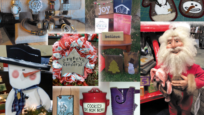 Holiday Handcrafter's Showcase and Marketplace comes to the Delaware County Fairgrounds this weekend. Photo montage: Judy Cloud