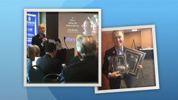 Dale Basham is pictured with some of the awards won at the recent Rotary Club District Conference. Photos: Dale Basham