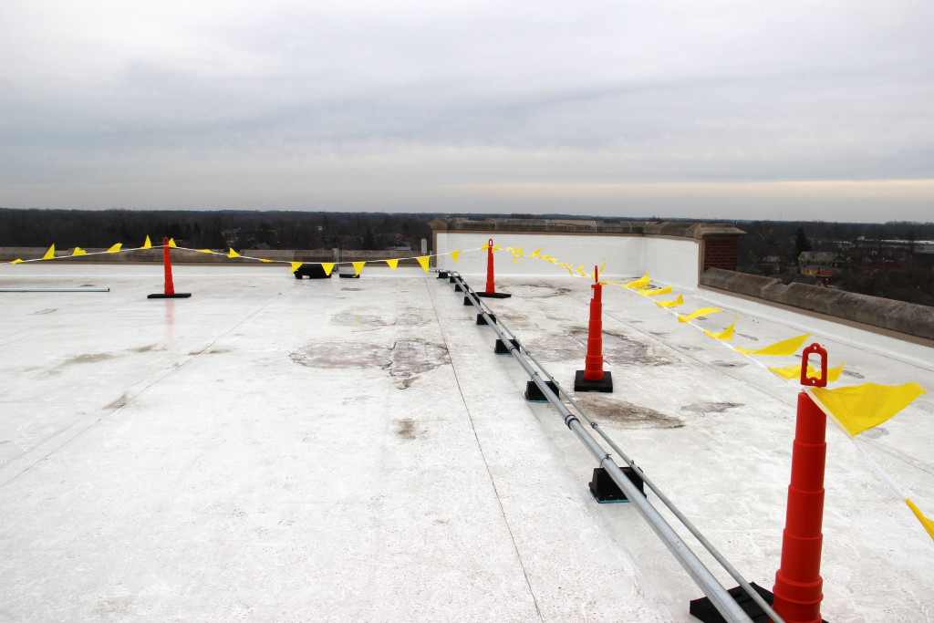 New solar equipment being installed on the roof of Cornerstone is pictured. Photo provided.