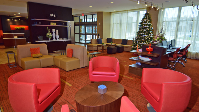 Inside the downtown Courtyard by Marriott. Photo by: Mike Rhodes