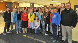 Delta Middle School students adopt ARF. Photo provided.
