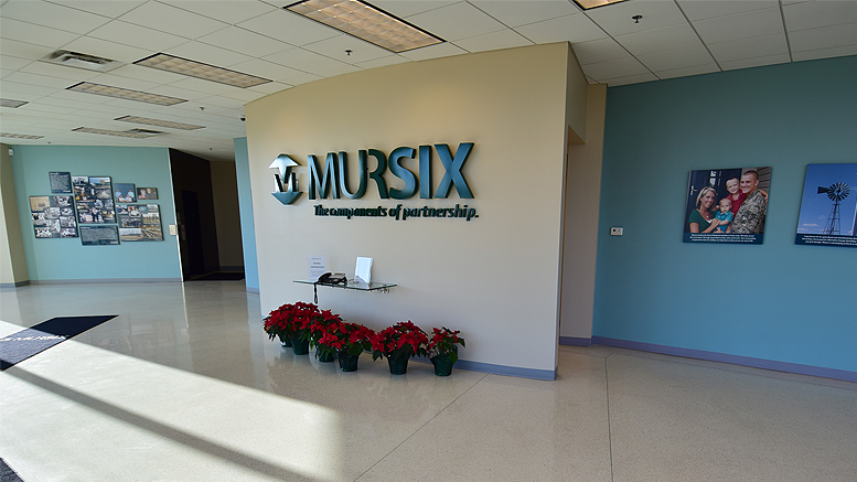 A view inside the lobby of Mursix. Photo by: Mike Rhodes