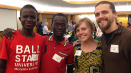 Pictured from left to right: Jacob Okomo, Maurice Oniala, Hanna DelaGardelle, and David DelaGardelle. Photo provided.