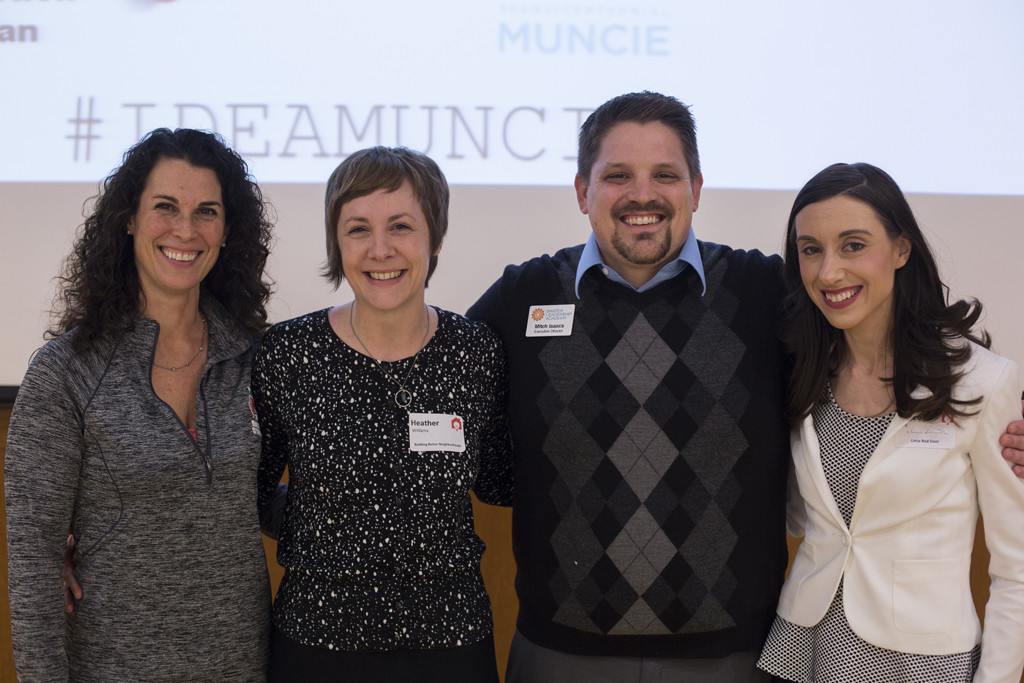 Conference organizers (l-r): Krista Flynn, Heather Williams, Mitch Isaacs, and Aimee Fant.