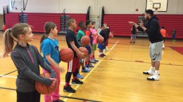 Unit Director, Antonio Benford, coaches kids during Spring Break basketball camp. Photo provided.