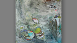Kaylee Dalton, Steady, encaustic, water media on paper, and oil.