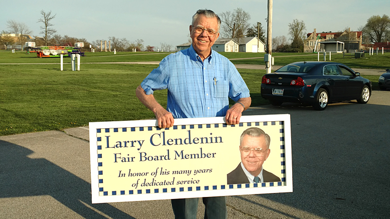 Larry Clendenin was recently honored for his service to the Delaware County Fair. Photo by: Mark DiFabio
