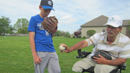 Bob Gillum and his grandson, Kade Oliver, share a love of baseball. Photo by: John Carlson