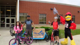 Bike/Walk event on May 25th for Longfellow Elementary students. Photo provided.