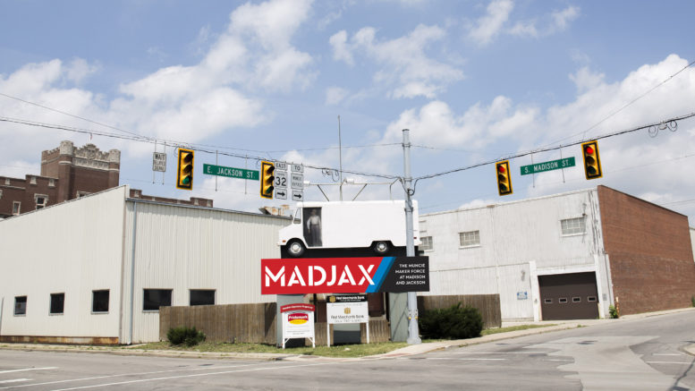 Madjax, located at Madison and Jackson streets in downtown Muncie.