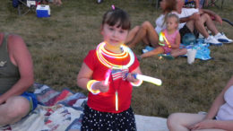 Glow sticks are a safer alternative to traditional sparklers, especially for younger children. Photo by Mike Rhodes