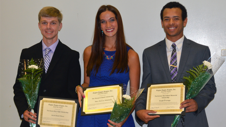 (L-R) Jacob Moore, Macy Whitehair, Joseph Scruggs. Photo provided.
