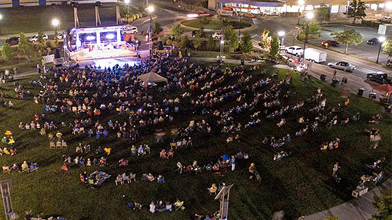 An overhead view of one of the past concerts in the Muncie Three Trails Music Series. Photo provided.