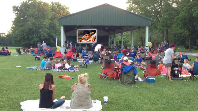 Yorktown's first Movies in the Meadow event drew nearly 200 people to Morrow's Meadow. Photo provided.