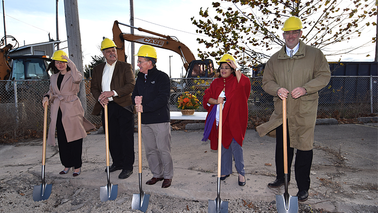 Pictured from left to right: Megan Quirk, Mark Flodder, Mayor Dennis Tyler, Jacqueline Hanoman, Jud Fisher. Photo by: Mike Rhodes