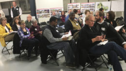 Members of the Muncie Action Plan (MAP) president's council and Eastside neighborhood residents joined Mayor Dennis Tyler and State Representative Sue Errington to learn more about the Kitselman Pure Energy Park (KPEP) development on Nov. 22.