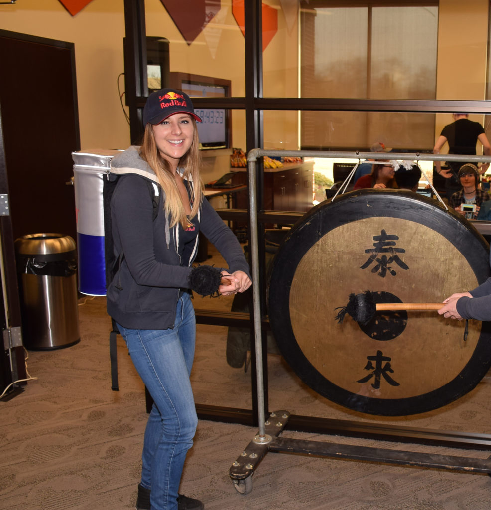 "When each hour of the 24 hour challenge elapses, the ""gong"" is struck."