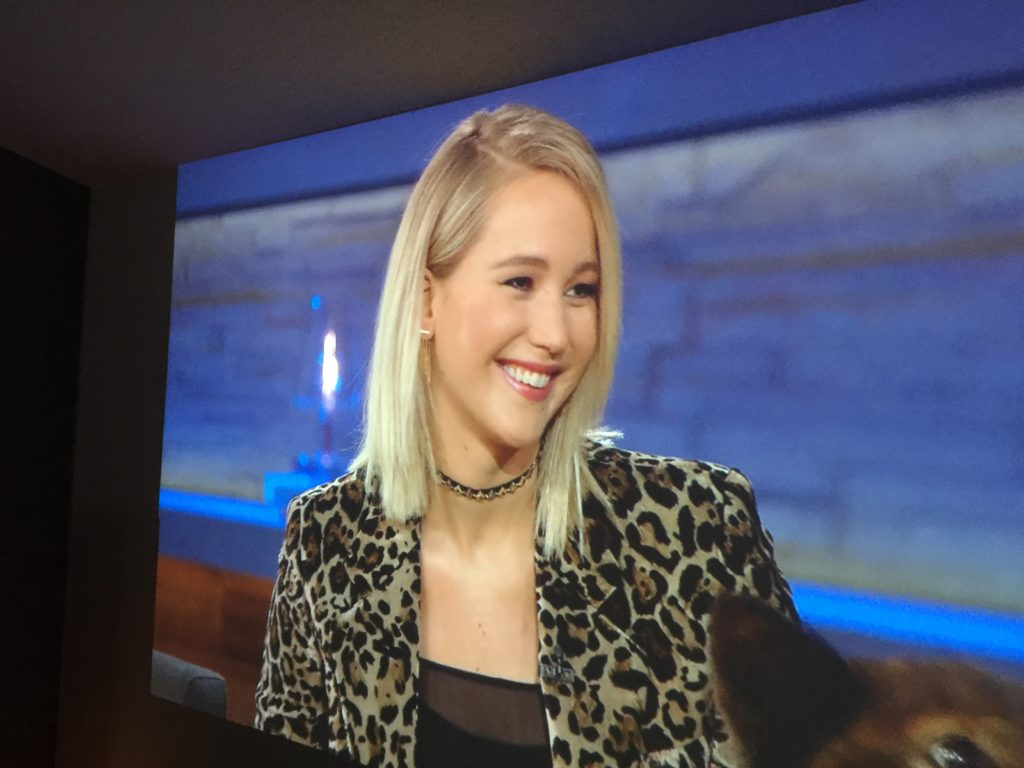 Jennifer Lawrence on the big screen. Photo by: Mike Rhodes