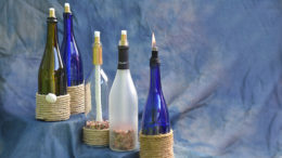 "Crafty items like repurposed wine bottles turned into candles can make interesting ""giver-focused"" gifts. Photo by: Mike Rhodes"