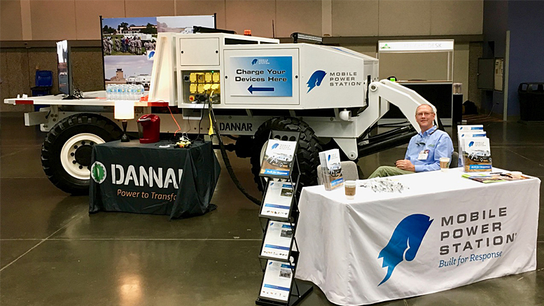 Dannar's booth at the 2017 Green California Summit and Expo. Photo provided.