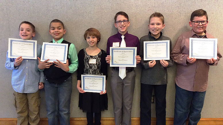 The 30th Annual Altrusa International of Muncie, IN 4th Grade Essay Contest winners. Photo courtesy of Jane White.