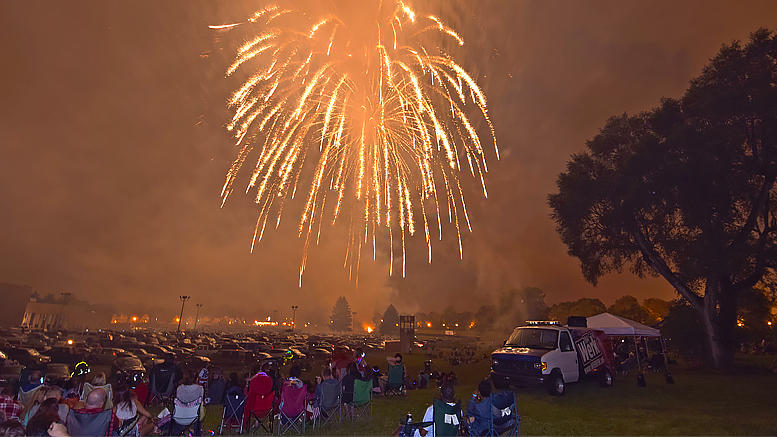 "A scene from the levee at the 2016 ""Set the Night to Music"" fireworks display. Photo by: Mike Rhodes"