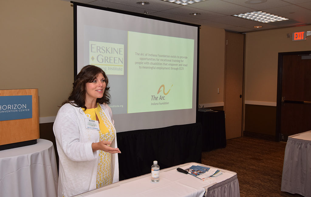 Jeanne Smith gives an overview of the Erskine Green Training Institute during a break-out session at the IASP conference. Photo by: Mike Rhodes