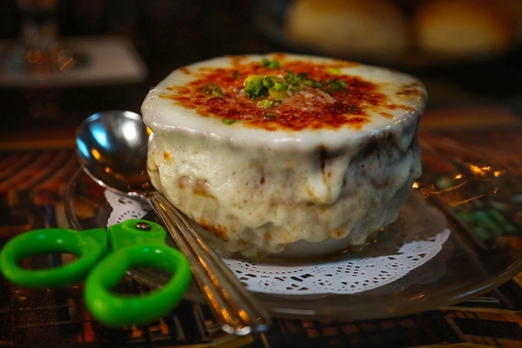 Vera Mae's fresh made French Onion Soup is a dining favorite and has a reputation all it's own as the best there is! Photo by: Lorri Markum