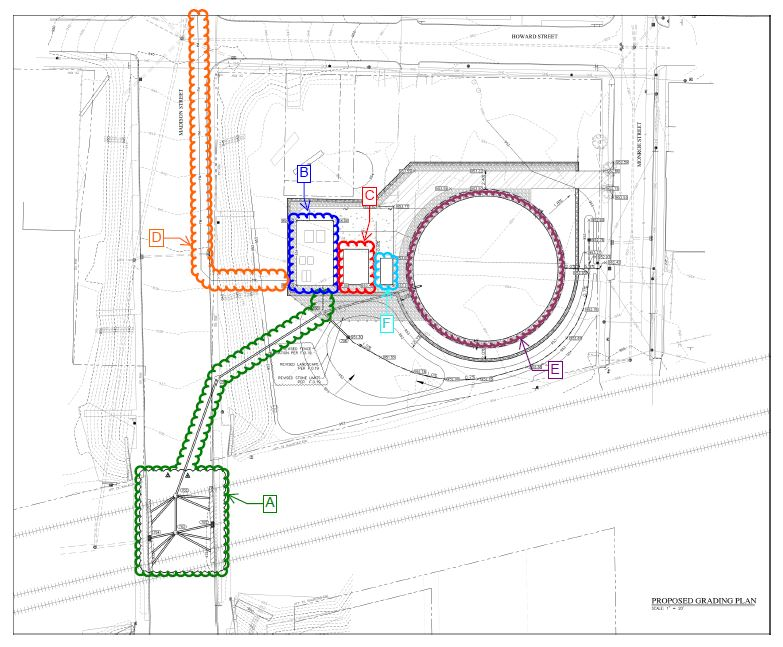 Madison Street Underpass Storm Sewer System Layout. Photo by: Bowen Engineering