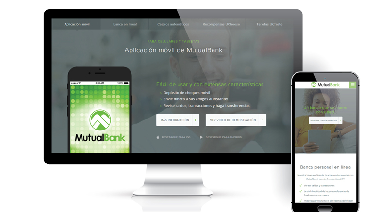 Bankwithmutual.com now available in Spanish. Photo provided.