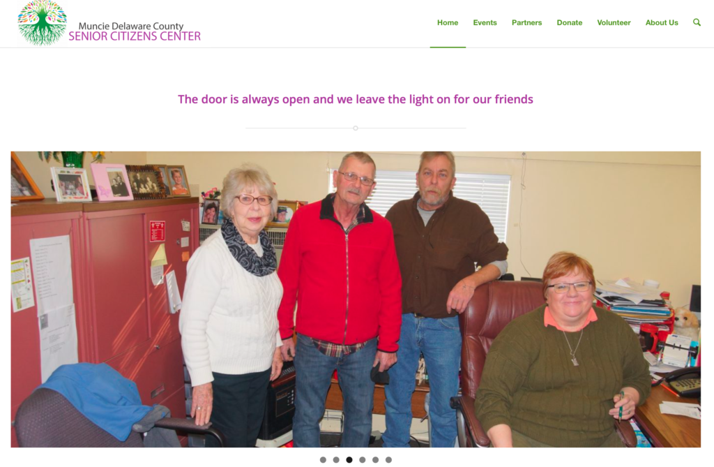 Click on the image above to view the Muncie Delaware County Senior Citizens Center website.