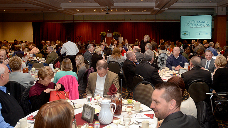 A scene from a previous Chamber Champions Award Luncheon. Photo provided.
