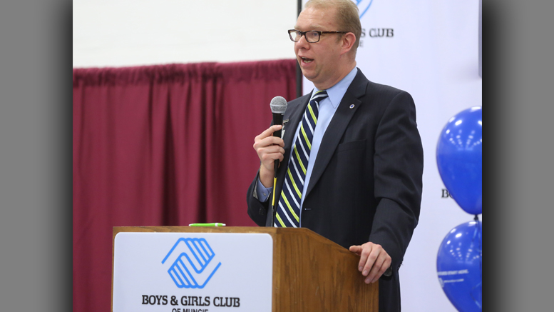 James Mitchell, president of the Board of Directors is pictured speaking at last year's Great Futures luncheon. Photo provided.