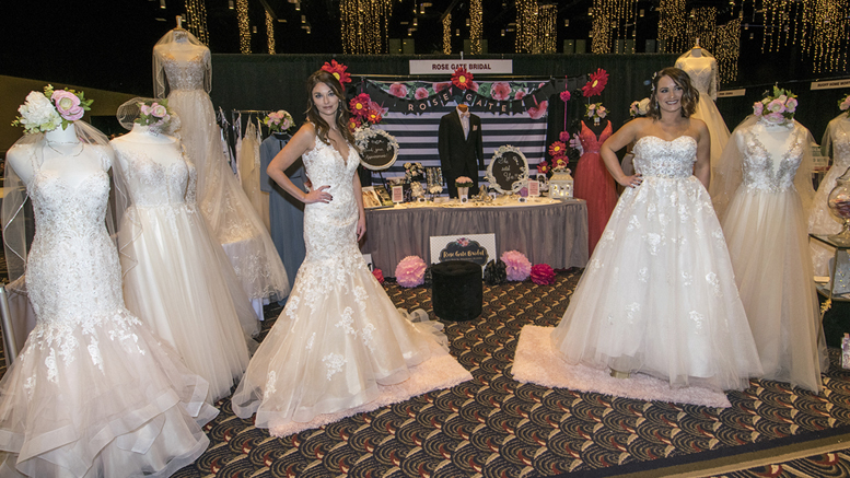 The Rose Gate Bridal booth at the East Central Indiana Bridal Show. Photo by: Mike Rhodes
