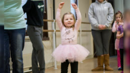 A young girl learns ballet at Cornerstone Center for the Arts. Photo provided.
