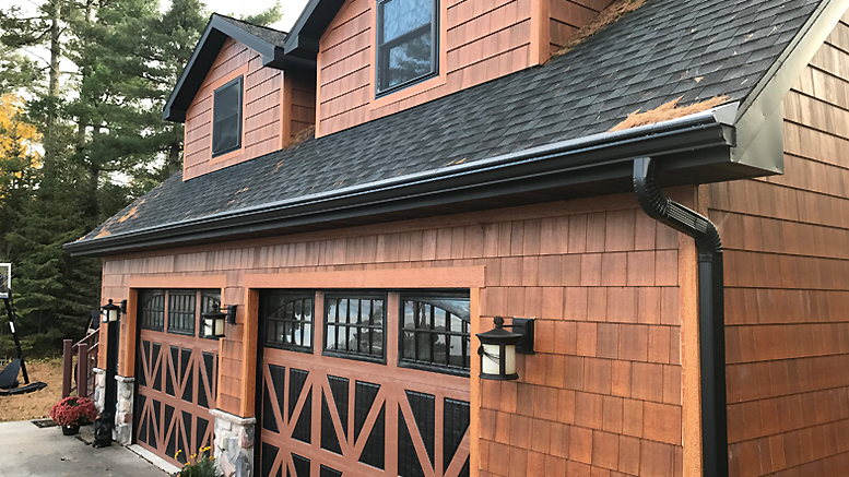 This Gutter Helmet installation is not only functional, but integrates beautifully with this home.