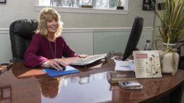 Owner Sue Dalton is pictured in her office at Dalton & Company Professional Cleaning Supply. Photo by: Mike Rhodes