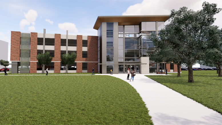 West view from Park Hall Crossing. Rendering provided.