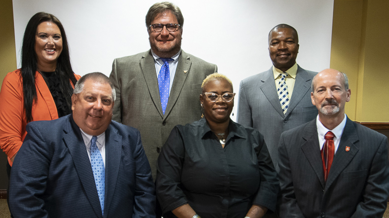 New MCS Board Members. Back row,(L-R) Brittany Bales, James Williams, Keith O'Neal. Front row, (L-R) Dave Heeter, WaTasha Barnes Griffin, James Lowe. Not pictured: Mark Ervin. File photo