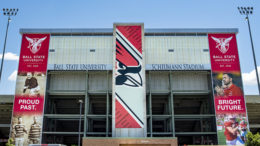 New banners at BSU. Photo provided.