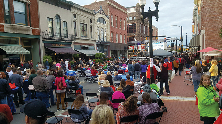The scene downtown last year during the Voices United concert. Photo provided.