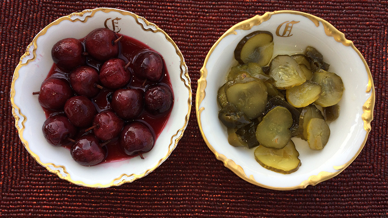 Pickled cherries and hot Amish pickles are cause for hope. Photo by: Nancy Carlson